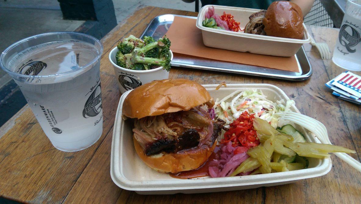 Pulles Pork Burger - Mighy Quinns - Manhatten, New York City